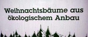 Weihnachtsbäume Bio vom Großhändler Zertifikat